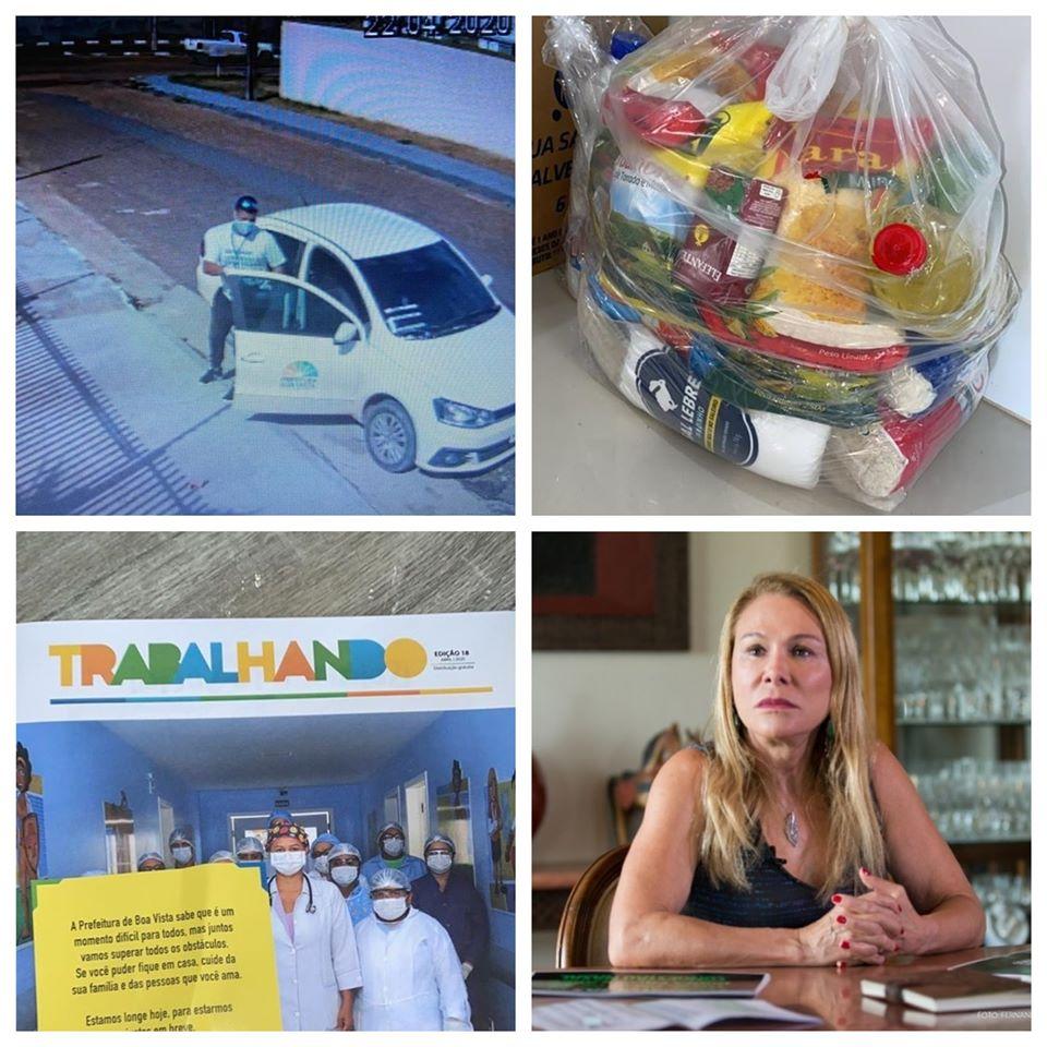 DENÚNCIA: Entrega de cestas básicas vem com ´panfleto´ da prefeita