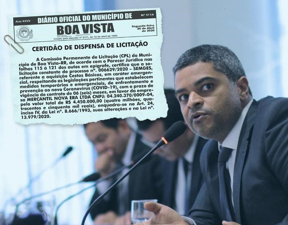 R$ 4,5 MILHÕES: Vereador vai fiscalizar compra de cestas básicas