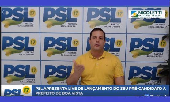 Nicoletti lança pré-candidatura a prefeito de Boa Vista