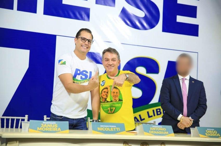 Volta de Denarium ao PSL pode provocar racha no partido em RR