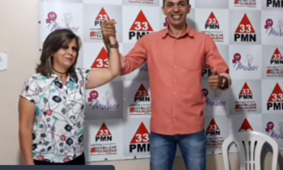 PMN oficializa Shaolyn Gomes como candidato à Prefeitura; vice será médica pediatra
