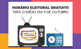 ELEIÇÕES 2020: Horário eleitoral gratuito no rádio e TV começa nesta sexta-feira