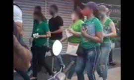 Comerciantes fecham lojas em protesto durante panfletagem de Arthur