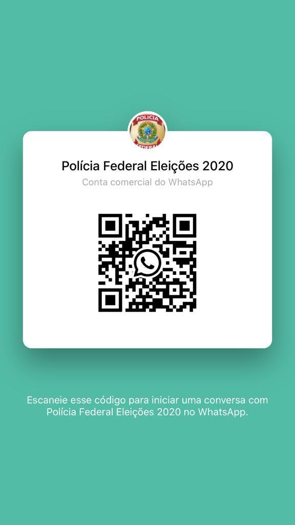 ELEIÇÕES 2020: PF disponibiliza 'Whatsapp' para população denunciar ilícitos eleitorais