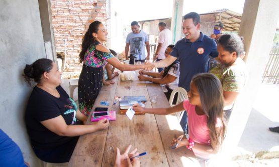 Ottaci e Lenir encerram campanha com visita a bairros da zona Oeste de Boa Vista