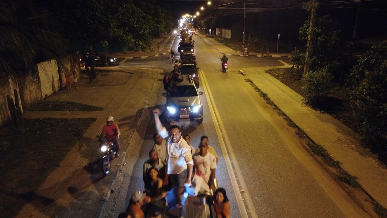 Ottaci e Lenir encerram campanha com grande carreata pelas principais ruas de Boa Vista