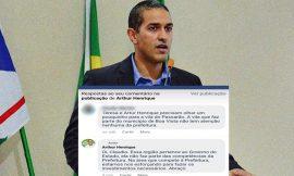 Candidato a prefeito nega melhorias e justifica que vila em Boa Vista não pertence ao município