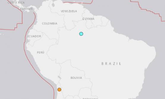 Terremoto é registrado em Roraima e no Amazonas