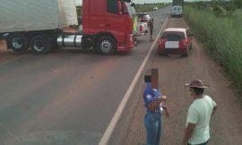 Em apoio a Bolsonaro, caminhoneiros bloqueiam BR-174 por tempo indeterminado