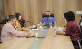 Comissão de Educação da Assembleia Legislativa se reúne com direção do Sinter